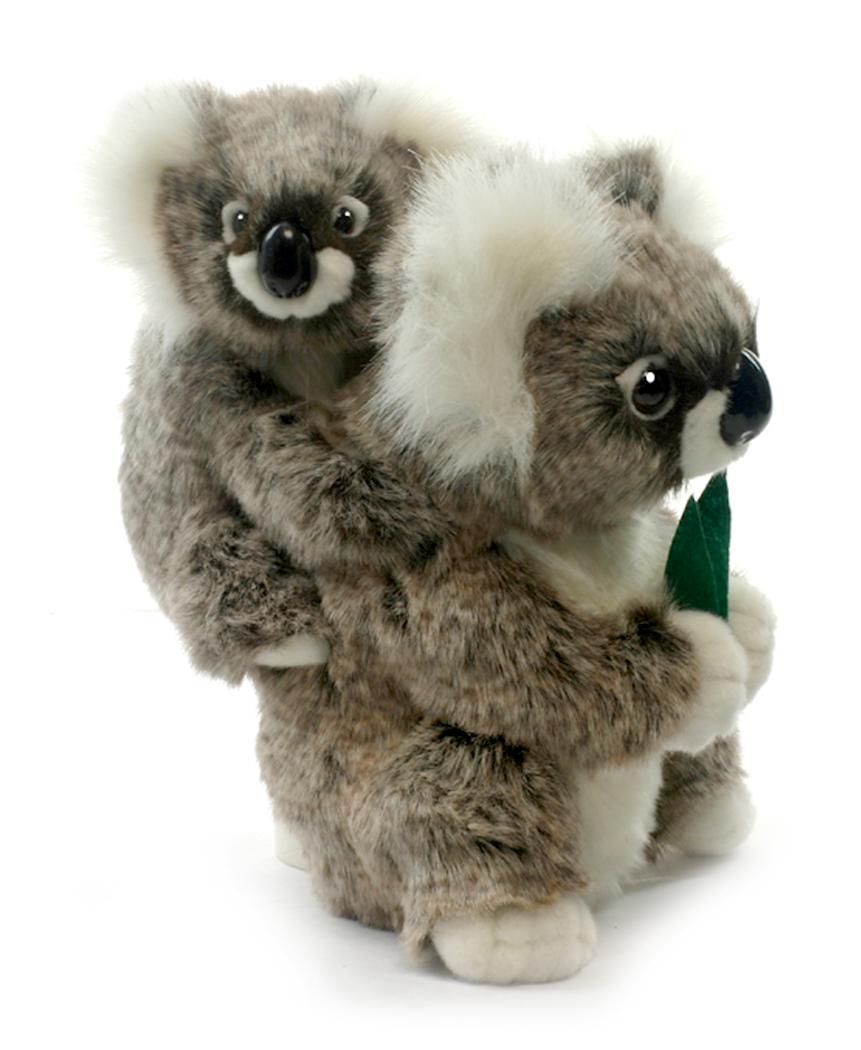 Мягкая игрушка Hansa Коала с детенышем, 28 см