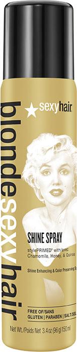 Sexy Hair Спрей-блеск для сохранения цвета, BLSH Shining star, 130 мл39SS03: Спрей для сохранения цвета и увеличения блеска для осветленных, мелированных и седых волос. Заставит Ваши волосы сиять, как у Мэрилин Монро, самой яркой и сексуальной из всех блондинок. Специально разработанная технология Perfect-Balance Technology с экстрактом ромашки, меда и киноа помогает волосам оставаться сильными и увлажненными. Содержит УФ-фильтры, помогает сохранить цвета, блеск и красоту волос. Не утяжеляет волосы.