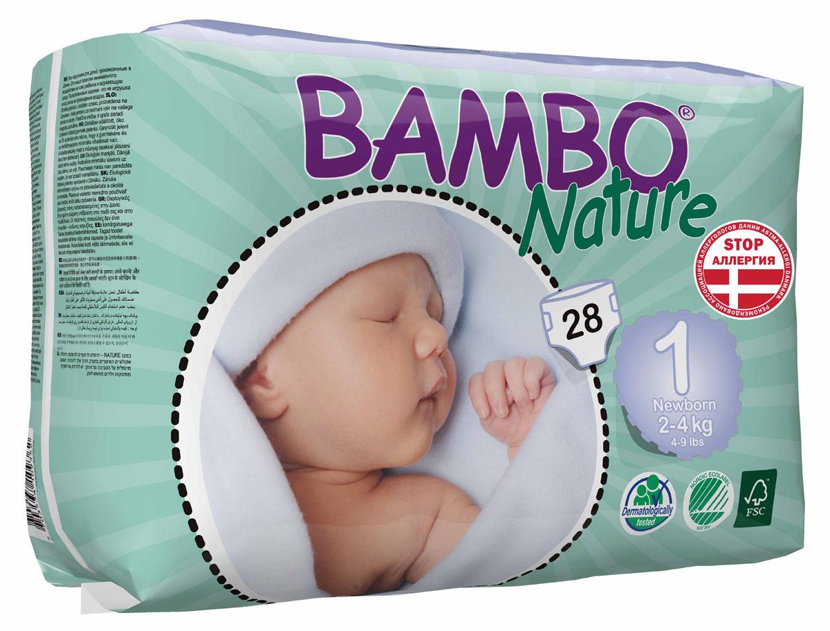 "Bambo Nature Подгузники детские одноразовые ""New Born"", 2-4 кг, 28 шт 310131"