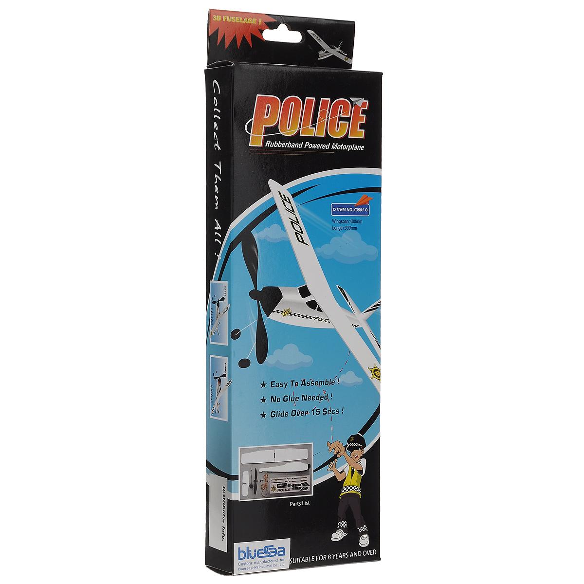 Bluesea Резиномоторная модель планера Полиция