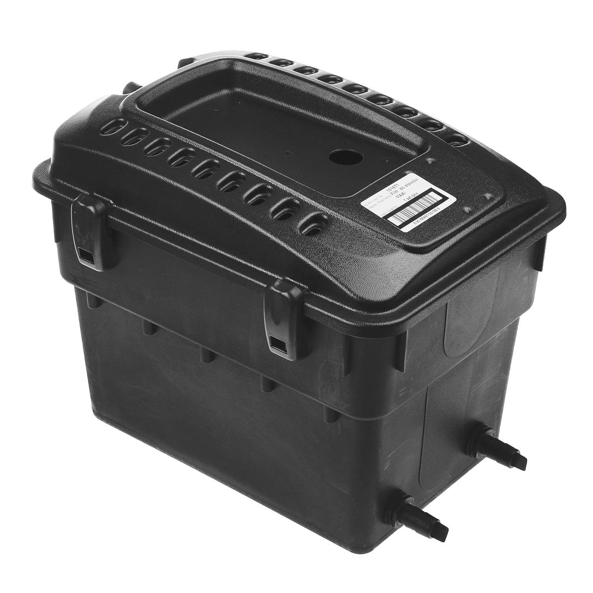 Фильтр для декоративного пруда Aquael. MAXIMAXIФильтр для декоративного пруда Aquael является наружным фильтром. Его можно размещать на берегу пруда или на водопаде. Работает совместно с насосом Aquajet PFN. Такой фильтр обеспечивает механическую и биологическую очистку водоема. Рассчитан на непрерывную работу и приспособлен к работе как в полностью погруженном состоянии, так и в наружном положении. Максимальный объем: 5 м3. Размер фильтра: 50 см х 38 см х 40 см.