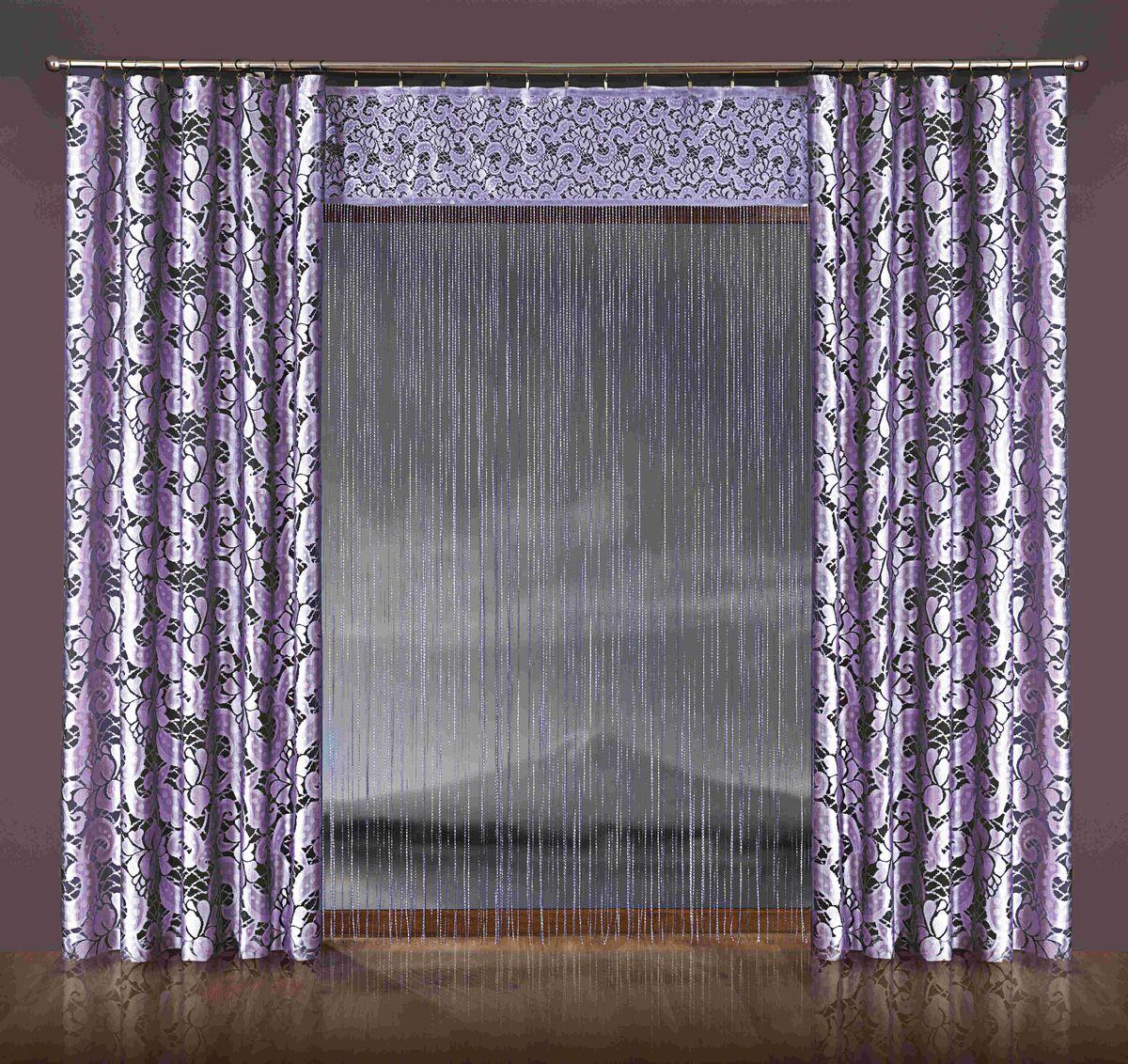 Комплект штор WISAN 170*250+150*250*2. 077W077WКомплект штор WISAN 170*250+150*250*2. 077W Материал: 100% п/э, размер: 170*250+150*250*2, цвет: лиловый