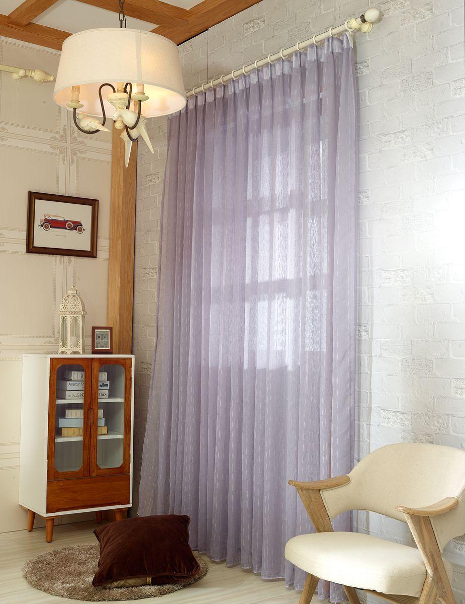Тюль Zlata Korunka, на ленте, цвет: бледно-лиловый, высота 250 см20151-5Тюль Zlata Korunka изготовлен из 100% полиэстера и великолепно украсит любое окно. Воздушная ткань и приятная, приглушенная гамма привлекут к себе внимание и органично впишутся в интерьер помещения. Полиэстер - вид ткани, состоящий из полиэфирных волокон. Ткани из полиэстера - легкие, прочные и износостойкие. Такие изделия не требуют специального ухода, не пылятся и почти не мнутся. Крепление к карнизу осуществляется с использованием тесьмы. Такой тюль идеально оформит интерьер любого помещения.