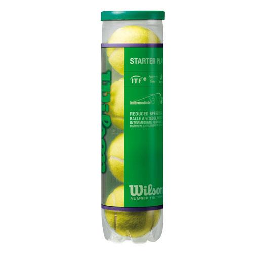 Мячи теннисные Wilson Starter Play Green, 4 шт332515-2800Большие теннисные мячи Wilson Starter Play Green с низким давлением. Отскакивают на 25% медленнее стандартного теннисного мяча. Предназначены для 1-го зеленого уровня программы 10S. Мячи одобрены международной теннисной федерацией.