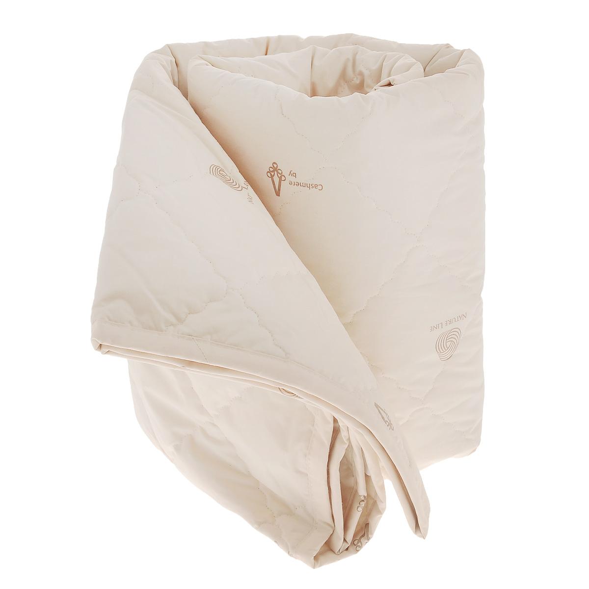 Одеяло La Prima Кашемир, наполнитель: кашемир, полиэфирное волокно, цвет: светло-бежевый, 170 см х 205 смМБМ-18-2Одеяло La Prima Кашемир очень легкое, воздушное и одновременно теплое. Чехол одеяла выполнен из 100% хлопка. Наполнитель - из натуральной шерсти кашемирской козы. Одеяла с наполнителем из кашемира очень высоко ценят во всем мире. Изделие обладает высокой воздухопроницаемостью, прекрасно сохраняет тепло и снимает статистическое электричество. Оно гипоаллергенно, очень практично и неприхотливо в уходе. Благоприятно воздействует на мышцы и суставы, создавая эффект микромассажа, обеспечивает здоровый и глубокий сон. Ручная стирка при температуре 30°С. Материал чехла: 100% хлопок.Наполнитель: кашемир, полиэфирное волокно. Размер: 170 см х 205 см.