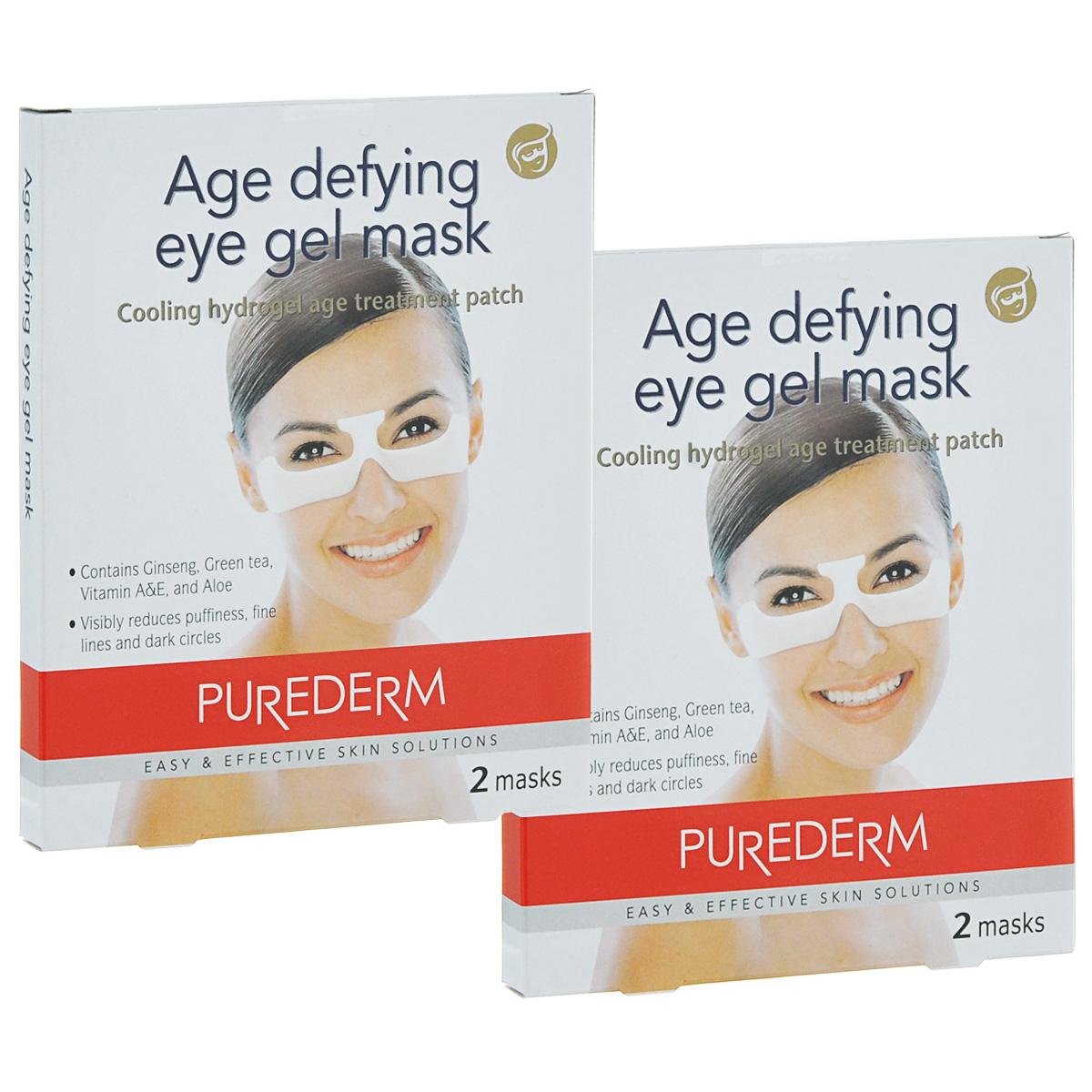 Purederm Гелевая маска для глаз с омолаживающим эффектом, 2х70 г. увлажняющая маска purederm огурец 10 мл