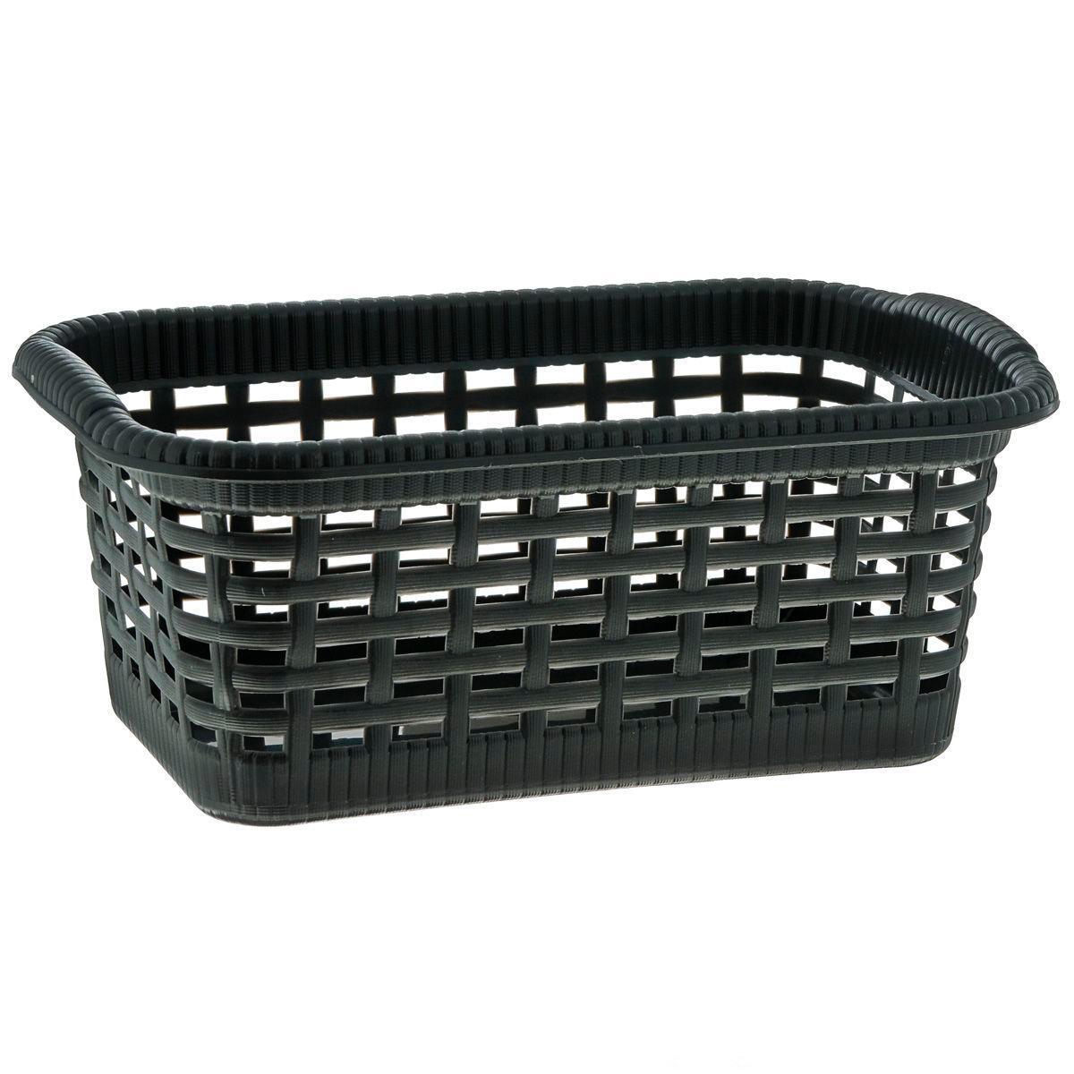 Корзина Gensini, цвет: черный, 24 x 15 x 10 см, 3 л3300