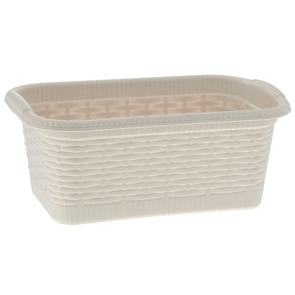 Корзина Gensini Rattan, цвет: светло-бежевый, 3 л3322Корзина Gensini Rattan, изготовленная из прочного пластика, предназначена для хранения мелочей в ванной, на кухне, даче или гараже. Легкая корзина со сплошным дном позволяет хранить мелкие вещи, исключая возможность их потери.