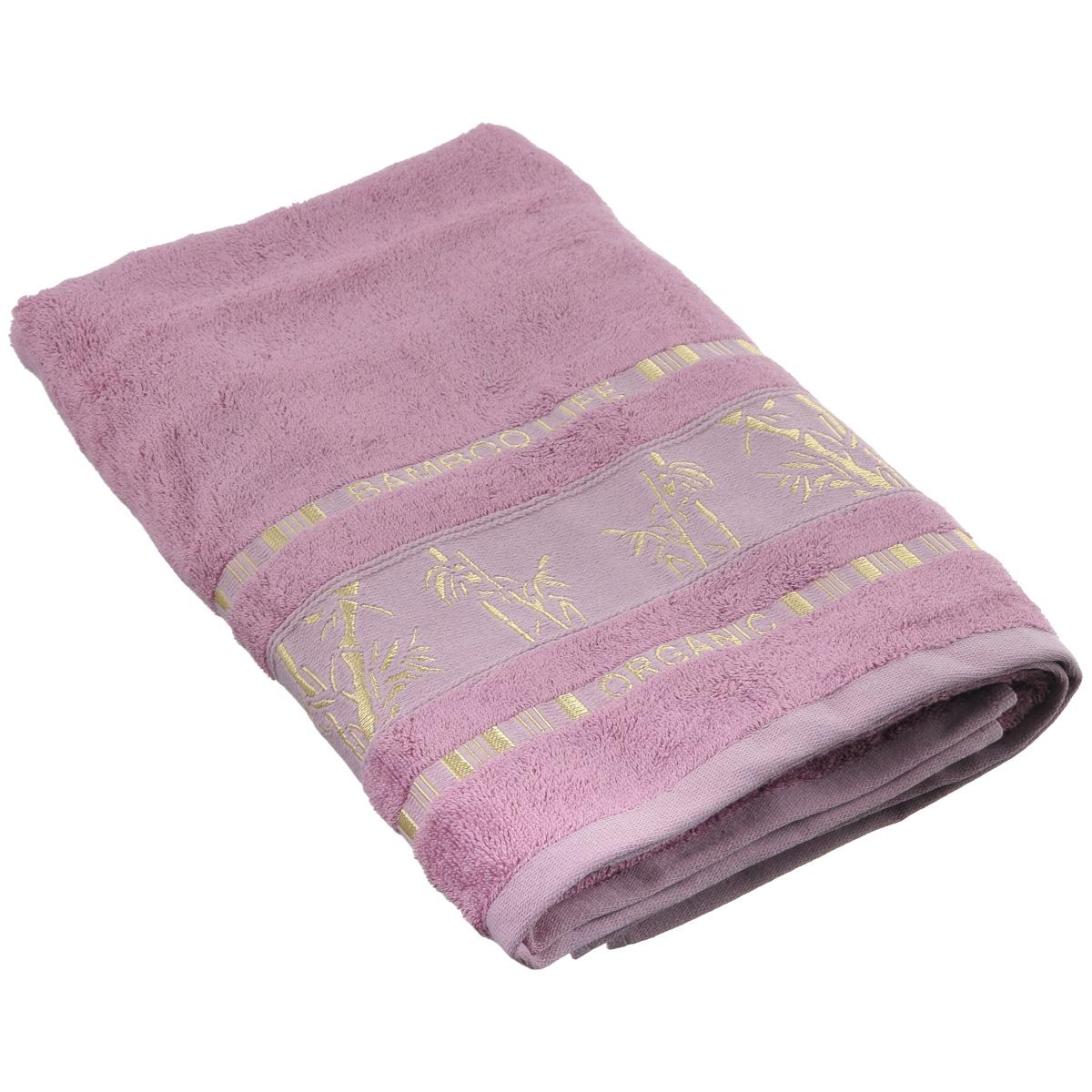 Полотенце Mariposa Bamboo, цвет: темно-розовый, 70 см х 140 см50850Полотенце Mariposa Bamboo, изготовленное из 60% бамбука и 40% хлопка, подарит массу положительных эмоций и приятных ощущений. Полотенца из бамбука только издали похожи на обычные. На самом деле, при первом же прикосновении вы ощутите невероятную мягкость и шелковистость. Таким полотенцем не нужно вытираться - только коснитесь кожи - и ткань сама все впитает! Несмотря на богатую плотность и высокую петлю полотенца, оно быстро сохнет, остается легким даже при намокании. Полотенце оформлено изображением бамбука. Благородный тон создает уют и подчеркивает лучшие качества махровой ткани. Полотенце Mariposa Bamboo станет достойным выбором для вас и приятным подарком для ваших близких. Размер полотенца: 70 см х 140 см.