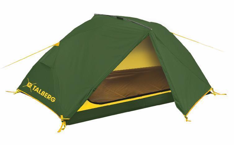 Палатка Talberg BORNEO 2, цвет: зеленый800802Легкая двухслойная двухместная палатка с дополнительной верхней выносной дугой, увеличивающей объем тамбуров.Палатки Talberg Туристической линии были специально разработаны для походов в весеннее, летнее и осеннее время. В палатках этой серии используются материалы и конструкции, которые позволяют комфортно провести теплую летнюю ночь или переждать серьезную непогоду с сильным ветром и осадками. Состав материала: полиэстер, фибергласс