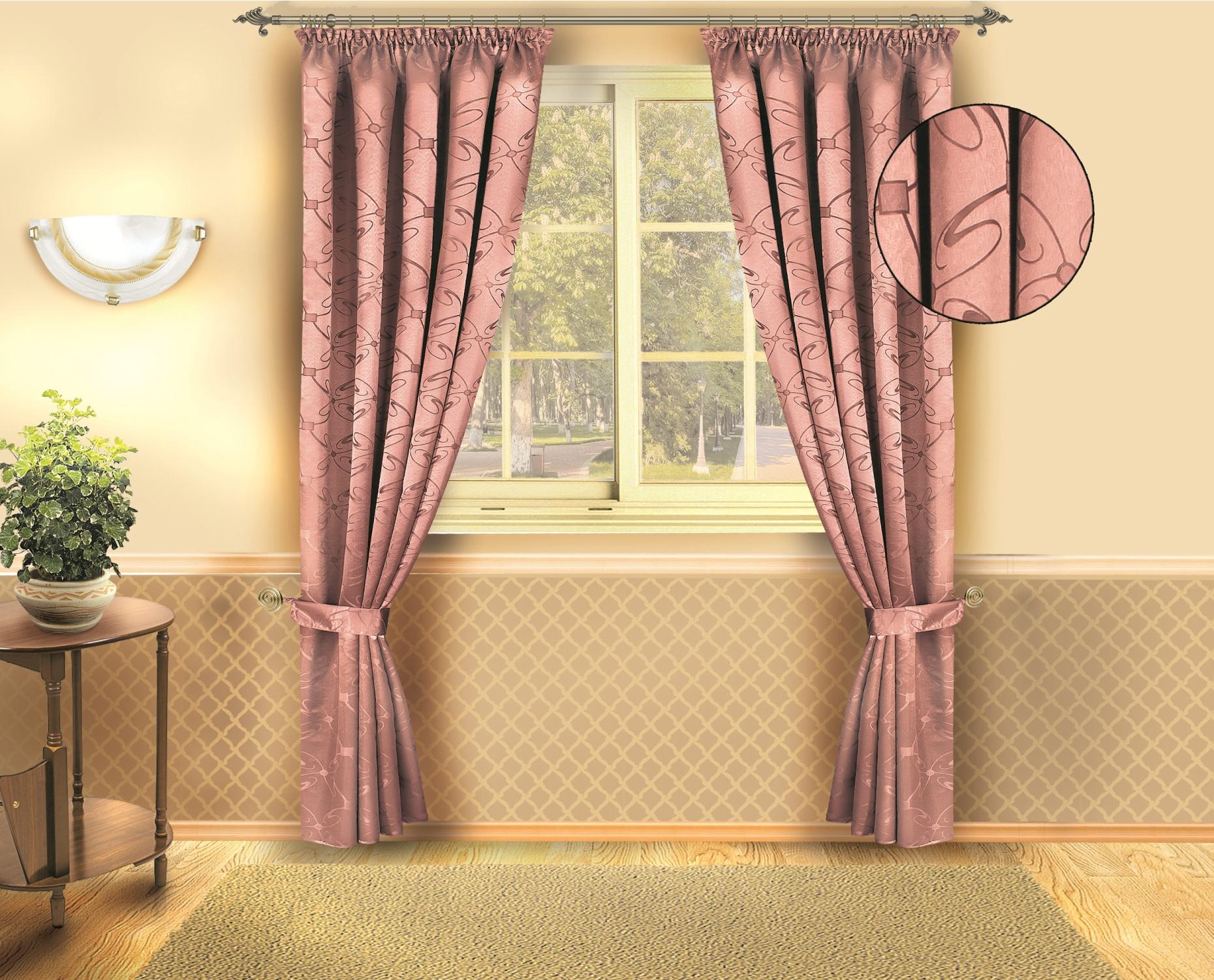 Комплект штор Zlata Korunka 140*250*2. Б133 розовыйБ133 розовыйКомплект штор Zlata Korunka 140*250*2. Б133 розовый Материал: 100% п/э, размер: 140*250*2, цвет: розовый