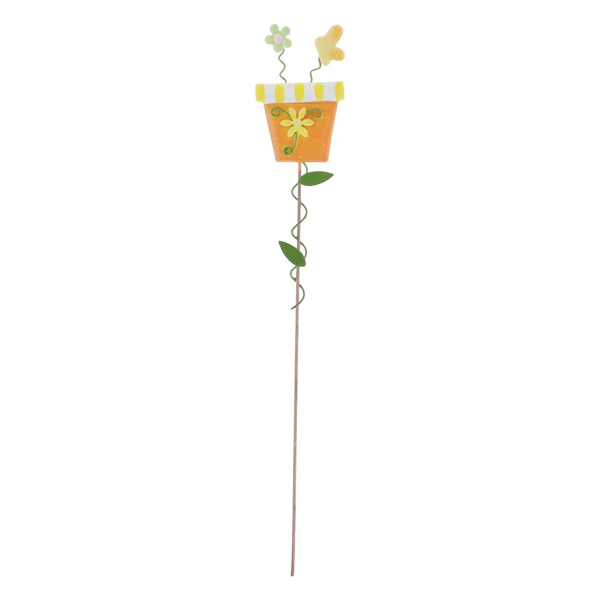 Украшение на ножке Village People Солнечная клумба, цвет: желтый, высота 30 см67161_1Украшение на ножке Village People Солнечная клумба поможет вам дополнить экстерьер красивой и яркой деталью. Такое украшение очень просто вставляется в землю с помощью длинной ножки, оно отлично переносит любые погодные условия и прослужит долгое время. Идеально подходит для декорирования садового участка, грядок, клумб, домашних цветов в горшках, а также для поддержки и правильного роста декоративных растений. Размер декоративного элемента: 4,5 см х 7,5 см. Высота: 30 см.