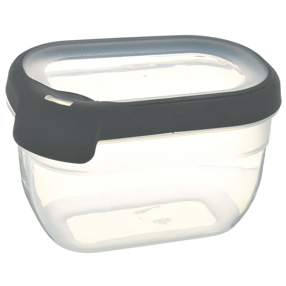 Емкость для заморозки и СВЧ Curver Grand Chef, цвет: серый, 0,75 л00008-673-04Прямоугольная емкость для заморозки и СВЧ Grand Chef изготовлена из высококачественного пищевого пластика (BPA free), который выдерживает температуру от -40°С до +100°С. Стенки емкости и крышка прозрачные. Крышка по краю оснащена силиконовой вставкой, благодаря которой плотно и герметично закрывается, дольше сохраняя продукты свежими и вкусными. Емкость удобно брать с собой на работу, учебу, пикник или просто использовать для хранения пищи в холодильнике. Можно использовать в микроволновой печи и для заморозки в морозильной камере. Можно мыть в посудомоечной машине.