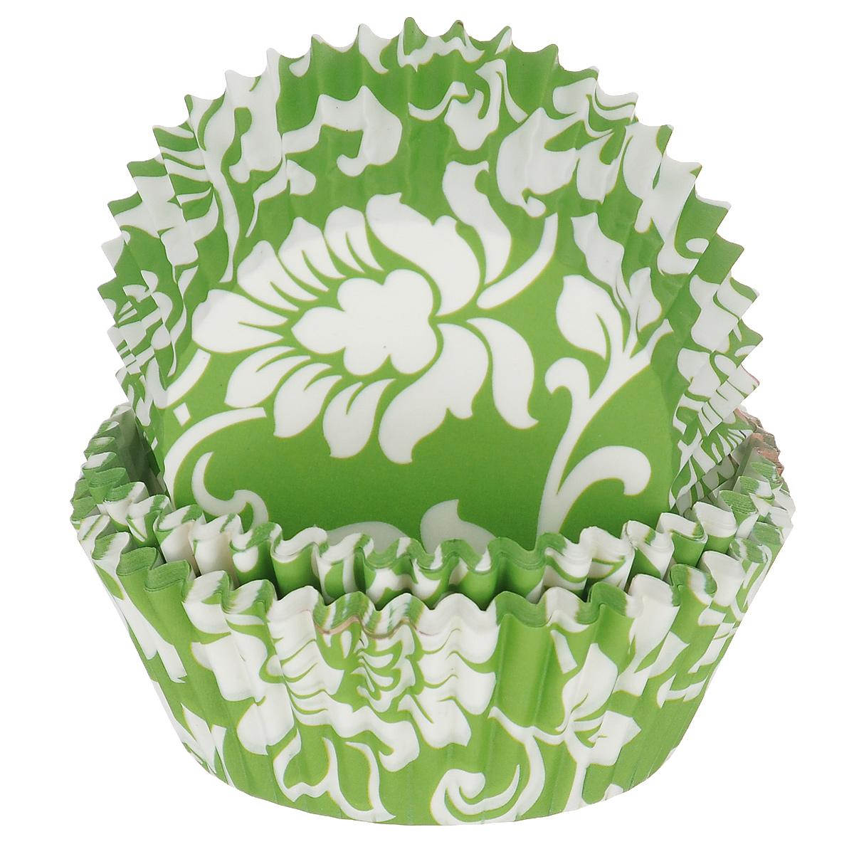 Набор бумажных форм для кексов Dolce Arti Цветочный узор, цвет: зеленый, белый, диаметр дна 5 см, 50 штDA080214Набор Dolce Arti Цветочный узор состоит из 50 бумажных форм для кексов, оформленных цветочным узором. Они предназначены для выпечки и упаковки кондитерских изделий, также могут использоваться для сервировки орешков, конфет и много другого. Для одноразового применения. Гофрированные бумажные формы идеальны для выпечки кексов, булочек и пирожных. Высота стенки: 3 см. Диаметр по верхнему краю: 7 см. Диаметр дна: 5 см.