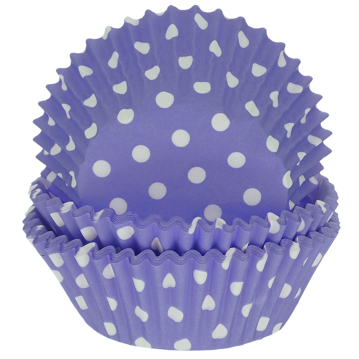 Набор бумажных форм для кексов Dolce Arti Горошек, цвет: фиолетовый, диаметр 7 см, 50 штDA080209Набор Dolce Arti Горошек состоит из 50 бумажных форм для кексов, оформленных принтом в горох. Они предназначены для выпечки и упаковки кондитерских изделий, также могут использоваться для сервировки орешков, конфет и много другого. Для одноразового применения. Гофрированные бумажные формы идеальны для выпечки кексов, булочек и пирожных. Высота стенки: 3 см. Диаметр (по верхнему краю): 7 см. Диаметр дна: 5 см.