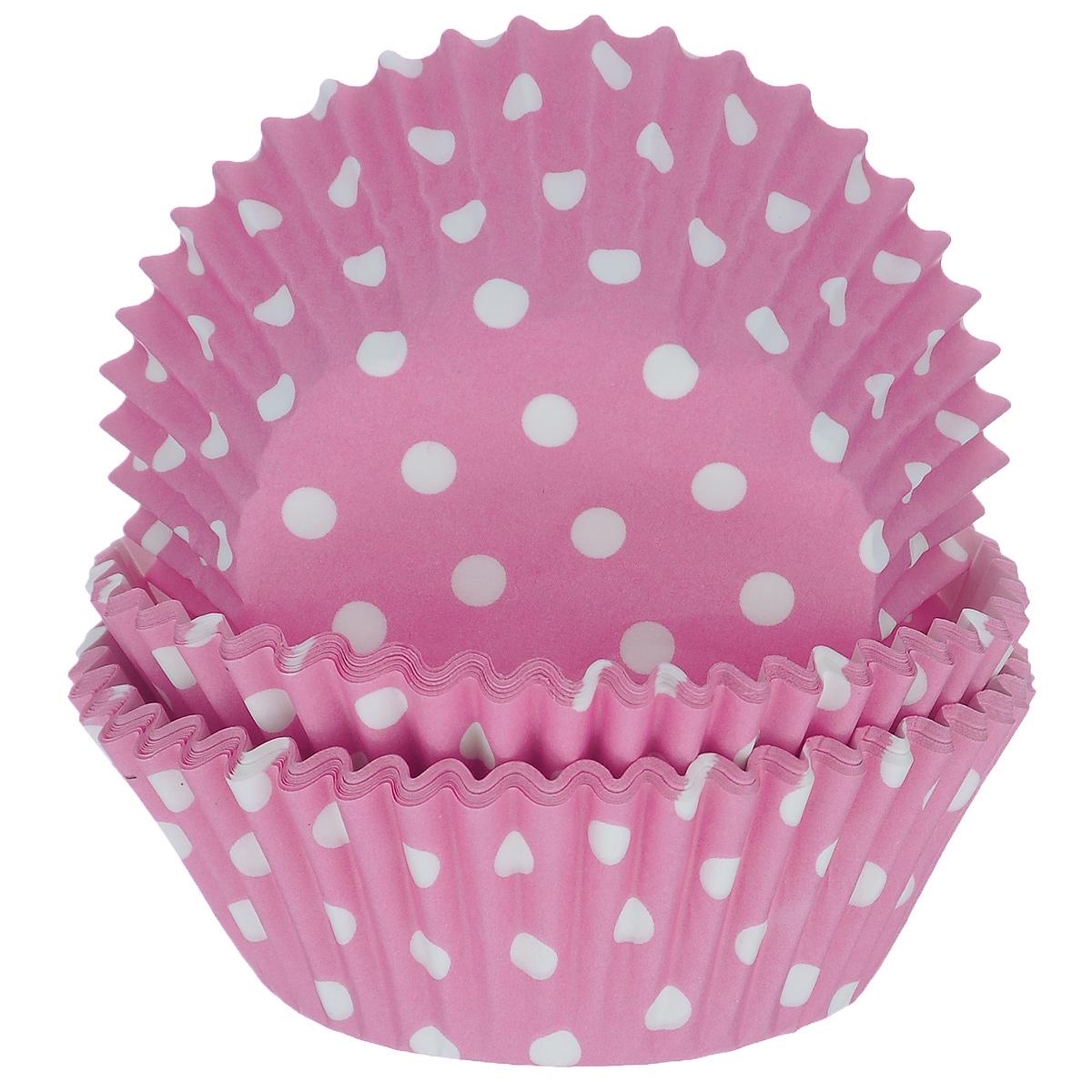 Набор бумажных форм для кексов Dolce Arti Горошек, цвет: розовый, диаметр дна 5 см, 50 шт94672Набор Dolce Arti Горошек состоит из 50 бумажных форм для кексов, оформленных принтом в горох. Они предназначены для выпечки и упаковки кондитерских изделий, также могут использоваться для сервировки орешков, конфет и много другого. Для одноразового применения. Гофрированные бумажные формы идеальны для выпечки кексов, булочек и пирожных.Высота стенки: 3 см. Диаметр (по верхнему краю): 7 см.Диаметр дна: 5 см.