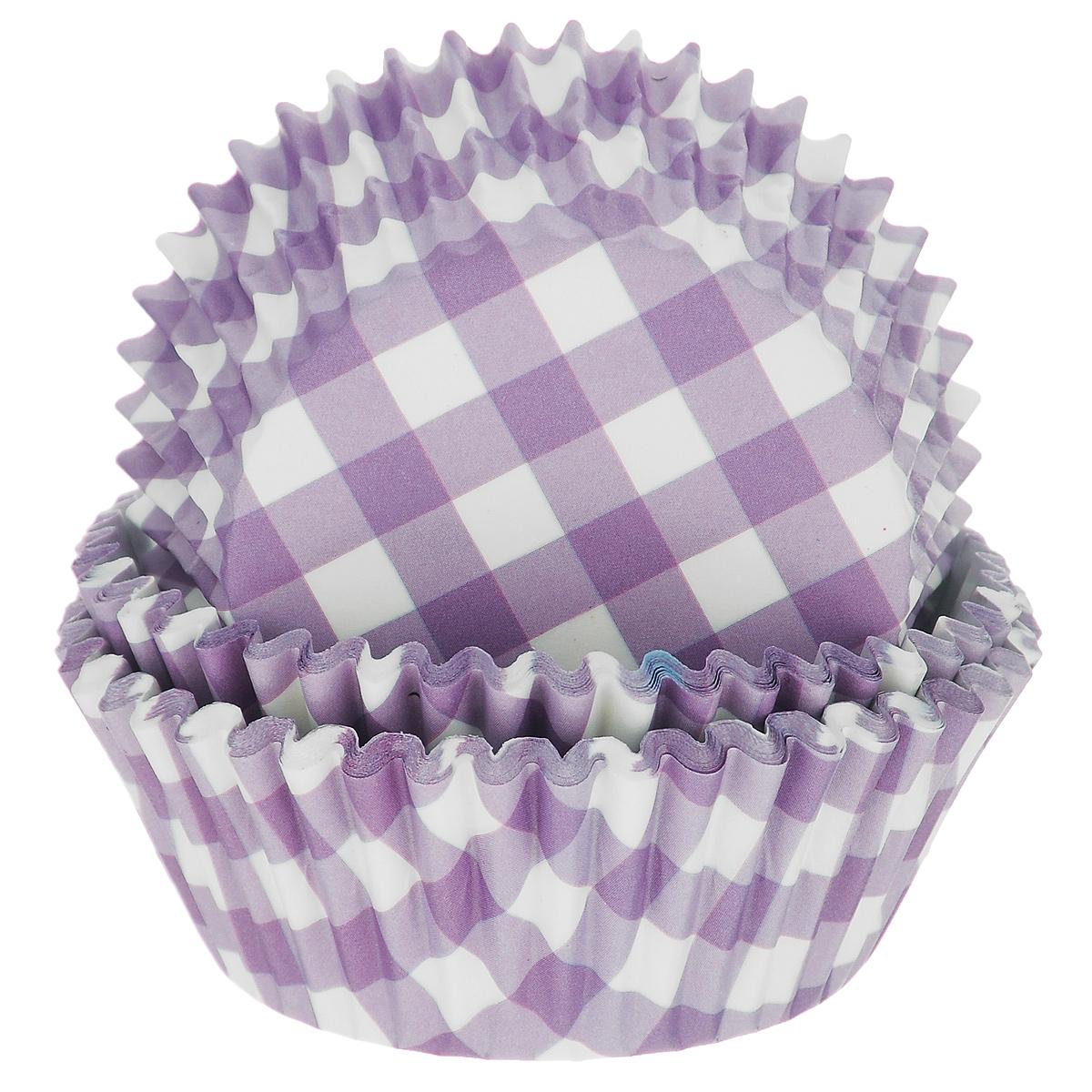 Набор бумажных форм для кексов Dolce Arti Клетка, цвет: фиолетовый, диаметр 7 см, 50 штDA080210Набор Dolce Arti Клетка состоит из 50 бумажных форм для кексов, оформленных принтом в клетку. Они предназначены для выпечки и упаковки кондитерских изделий, также могут использоваться для сервировки орешков, конфет и много другого. Для одноразового применения. Гофрированные бумажные формы идеальны для выпечки кексов, булочек и пирожных. Высота стенки: 3 см. Диаметр (по верхнему краю): 7 см.