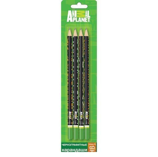 Набор карандашей чернографитных ANIMAL PLANET 4 шт., HB, заточ., блистер c е/поAP-ABP115/4Удобные и заточенные карандаши. Твердость – НВ. В блистере с европодвесом. По доступной цене. Понравятся вашему ребенку.