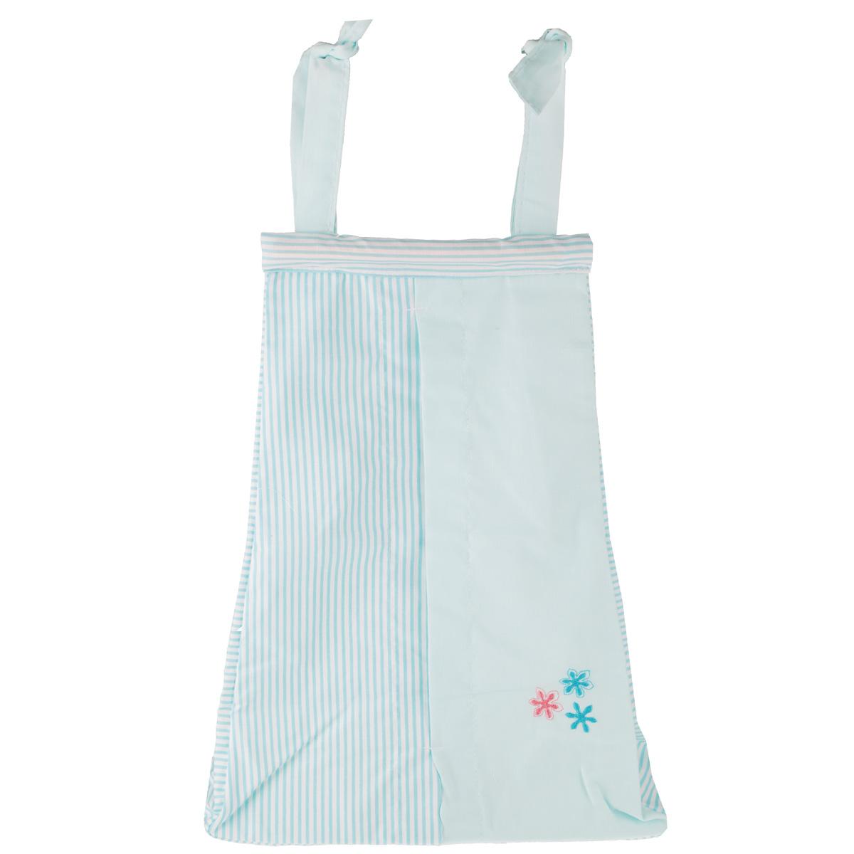 """Fairy (ВПК) Сумка для пеленок и подгузников Fairy """"Белые кудряшки"""", цвет: голубой, 50 см х 40 см 1019.14"""