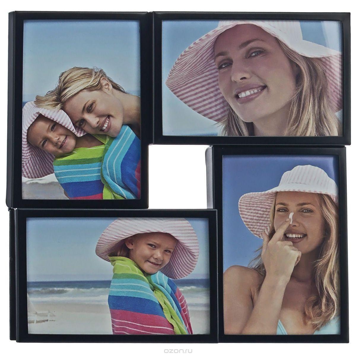Фоторамка Image Art, цвет: черный, на 4 фото, 10 х 15 см 505539860053554 009303Фоторамка-коллаж Image Art - прекрасный способ красиво оформить ваши фотографии. Изделие рассчитано на 4 фотографии. Фоторамка выполнена из металла и защищена стеклом. Фоторамку можно подвесить на стену, для чего с задней стороны предусмотрены специальные отверстия. Такая фоторамка поможет сохранить на память самые яркие моменты вашей жизни, а стильный дизайн сделает ее прекрасным дополнением интерьера.