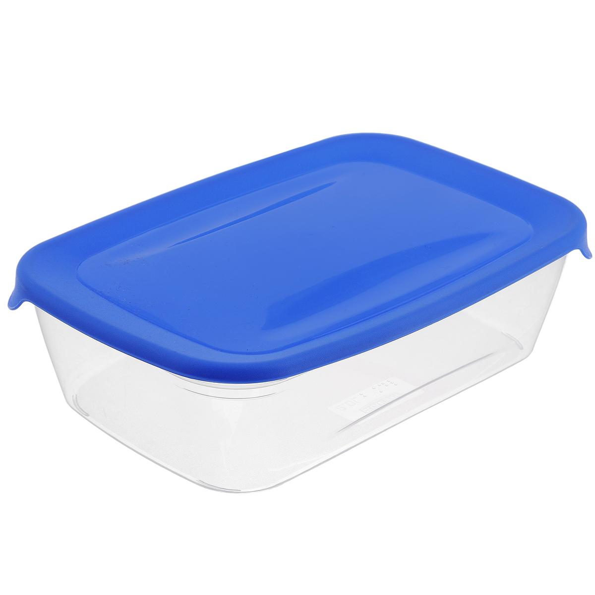 Емкость для заморозки и СВЧ Curver Fresh & Go, цвет: синий, 1 л00554-139-01Прямоугольная емкость для заморозки и СВЧ Curver Fresh & Go изготовлена из высококачественного пищевого пластика (BPA free), который выдерживает температуру от -40°С до +100°С. Стенки емкости прозрачные, а крышка цветная. Она плотно закрывается, дольше сохраняя продукты свежими и вкусными. Емкость удобно брать с собой на работу, учебу, пикник или просто использовать для хранения пищи в холодильнике. Можно использовать в микроволновой печи и для заморозки в морозильной камере. Можно мыть в посудомоечной машине.