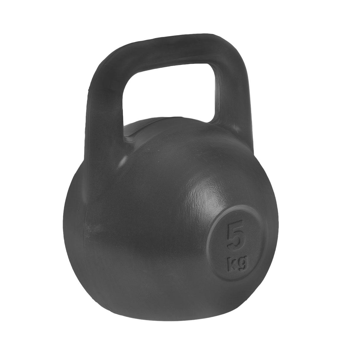 Гиря Евро-Классик, цвет: черный, 5 кгES-0029Гиря Евро-Классик выполнена из прочного пластика с наполнителем из цемента. Эргономичная рукоятка не скользит в руке, обеспечивая надежный хват. Специальная конструкция гири значительно уменьшает риск получения спортсменом травмы. Гири - это самое простое и самое гениальное спортивное оборудование для развития мышечной массы. Правильно поставленные тренировки с ними позволяют не только нарастить мышечную массу, но и развить повышенную выносливость, укрепляют сердечнососудистую систему и костно-мышечный аппарат. Вес гири: 5 кг.