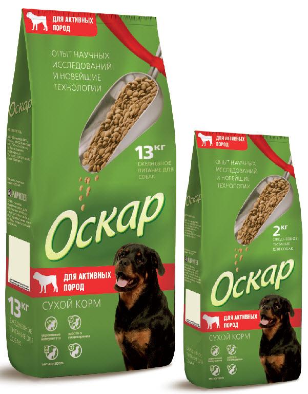 Корм сухой Оскар для собак активных пород, 13 кг2120Сухой корм Оскар является вкусным и полезным питанием для собак активных пород. Благодаря специально подобранным компонентам, корм Оскар: - укрепляет и поддерживает иммунную систему, - обеспечивает правильное пищеварение, - способствует росту здоровой, густой и блестящей шерсти, - укрепляет костную систему и суставы, - помогает поддерживать оптимальный вес собаки, - уменьшает образование зубного камня. Корм Оскар изготавливается из натуральных продуктов высшего качества, не содержит красителей и вкусовых добавок, сочетает в себе все необходимые для здоровья и нормального развития вашего любимца витамины и минеральные вещества. Состав: мясо, мясные субпродукты, злаки, рыба и рыбные субпродукты, мясокостная мука, животные и растительные белки, минеральные вещества, жиры и масла, овощи, витамины и микроэлементы. Анализ: протеин 27%, жир 12%, влажность 10%, зола 7%, клетчатка 5%, витамин А 5000 МЕ/кг, витамин Д 500 МЕ/кг,...
