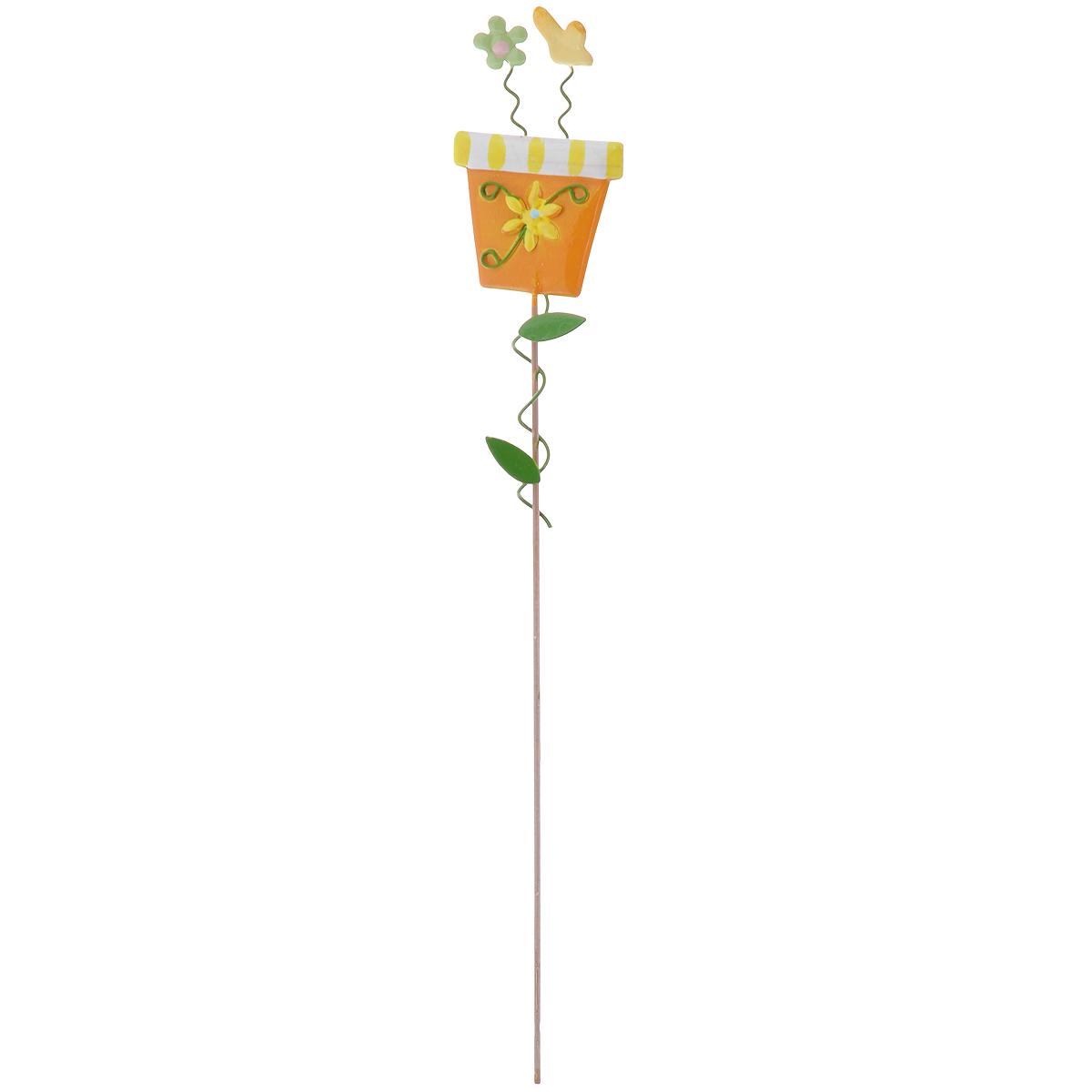 Украшение на ножке Village People Солнечная клумба, цвет: оранжевый, высота 30 см67161_3Украшение на ножке Village People Солнечная клумба поможет вам дополнить экстерьер красивой и яркой деталью. Такое украшение очень просто вставляется в землю с помощью длинной ножки, оно отлично переносит любые погодные условия и прослужит долгое время. Идеально подходит для декорирования садового участка, грядок, клумб, домашних цветов в горшках, а также для поддержки и правильного роста декоративных растений. Размер декоративного элемента: 4,5 см х 7,5 см. Высота: 30 см.