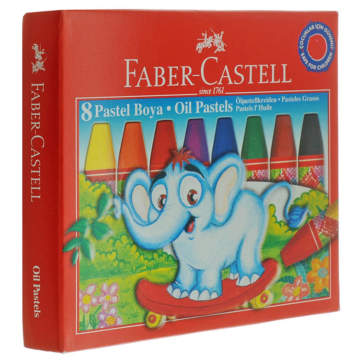 Масляная пастель Faber-Castell, 8 цветовLF806309Масляная пастель Faber-Castell включает в себя 8 мелков насыщенных цветов - желтого, оранжевого, красного, фиолетового, синего, зеленого, коричневого и черного.Пастель отличается высоким качеством и впечатляюще яркими цветами. Она обеспечит комфортное и мягкое рисования. Благодаря однородной консистенции пастель не крошится. Превосходно ложится на бумагу, картон, дерево и камень, устойчива к температуре. Цвета можно смешивать для получения новых оттенков.Масляная пастель Faber-Castell, безопасная для малыша, позволит вашему маленькому художнику раскрыть свой талант. Подарите своему ребенку радость творчества!