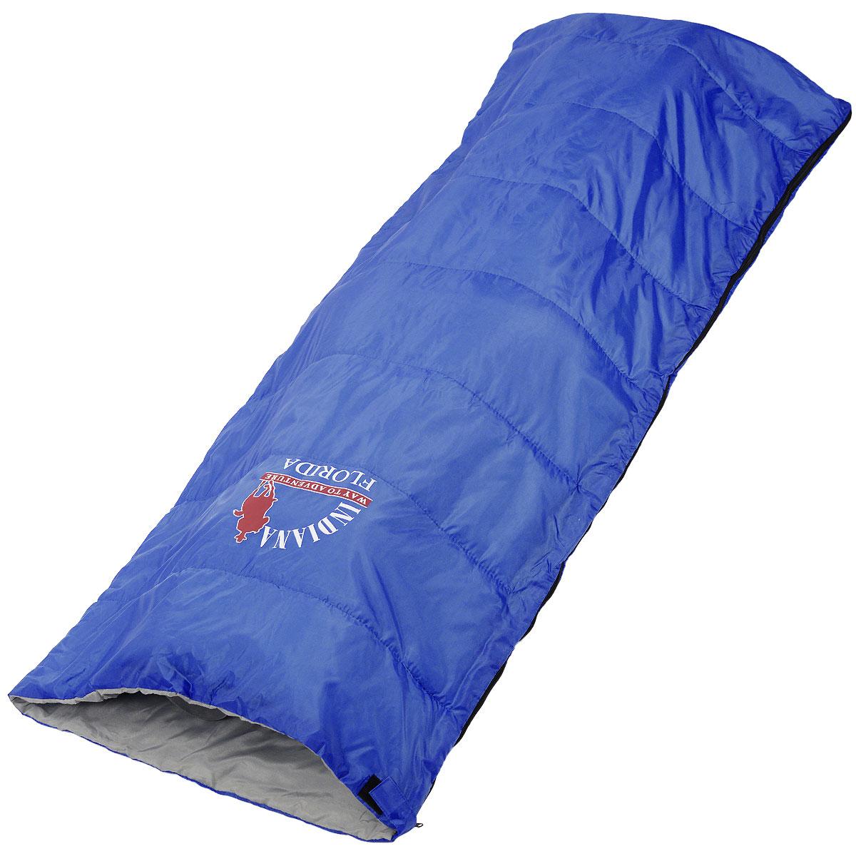 Спальный мешок-одеяло Indiana Florida, 180 см х 75 см360700031Классический спальный мешок Indiana Florida предусмотрен как для лета, так и для прохладного времени года, так как рассчитан на температуру от +5° C до +25°С. В сложенном виде мешок занимает очень мало места и весит совсем не много. Отлично подходит для летних походов, кемпинга и отдыха на природе.