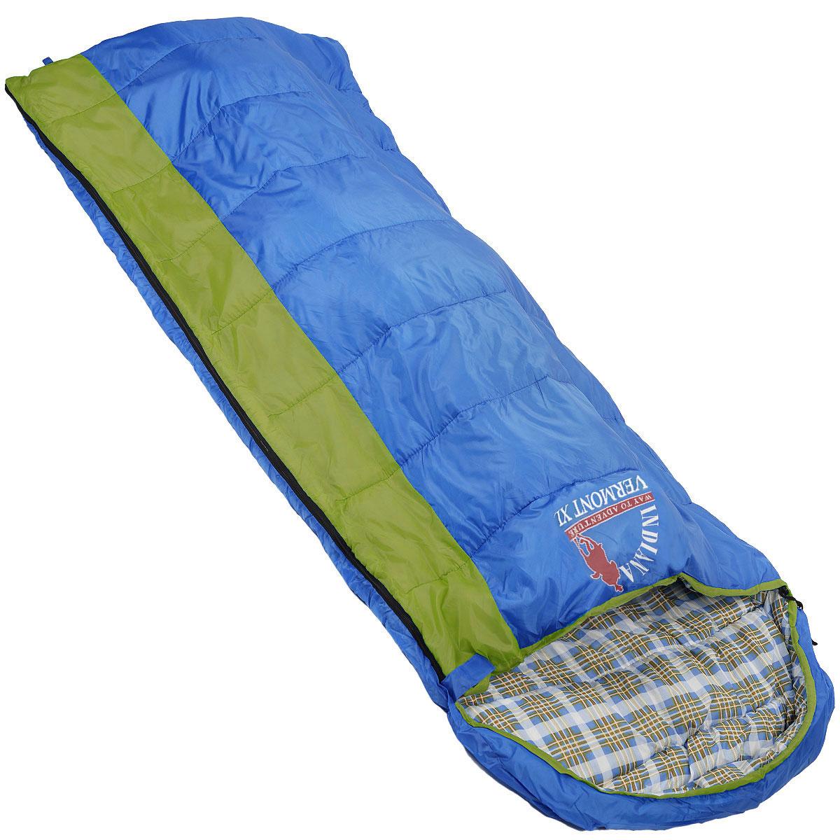 Мешок спальный Indiana Vermont Xl, левосторонняя молния, 185 см х 95 см360700037Самый популярный трехсезонный спальник-одеяло с подголовником, предназначен для комфортного сна даже в холодное время года. Спальный мешок Indiana Vermont Xl не только убережет вас от холода, но и, благодаря увеличенным размерам, обеспечит максимально комфортные условия для вашего сна. Разъемная молния позволяет состыковать два спальника в один большой.