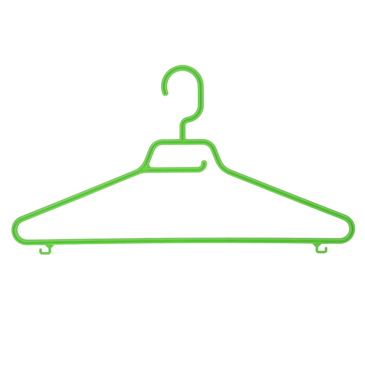 Вешалка М-пластика Лайт, цвет: салатовыйМ 2206Вешалка М-пластика Лайт выполнена из прочного пластика. Изделие оснащено перекладиной и тремя крючками. Вешалка - это незаменимая вещь для того, чтобы ваша одежда всегда оставалась в хорошем состоянии.