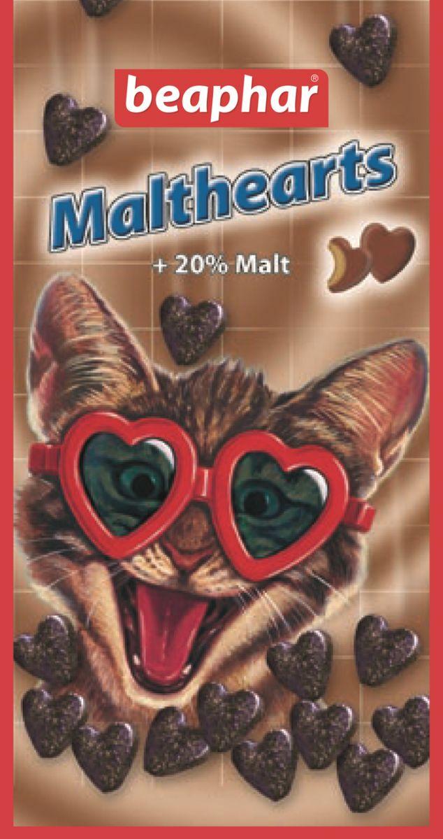 Лакомство для кошек Beaphar Malthearts, для вывода шерсти из желудка, 150 шт0120710Средство для выведения шерсти из желудка Beaphar Malthearts - это очень вкусное лакомство с Mальт-пастой в форме сердечек для кошек и котят. Высококачественная Mальт-паста помогает естественно выводить проглоченную шерсть из пищеварительного тракта, предупреждает образование волосяных комков в желудке животного. Кошки и котята, вылизываясь, заглатывают шерсть, которая накапливается в желудочно-кишечном тракте и затрудняет работу желудка. Регулярное употребление лакомства поможет решить эту проблему и избежать рецидива. Состав: молоко и молочные продукты, продукты растительного происхождения (экстракт солода 20%), сахара, минеральные вещества, моллюски и ракообразные (мин. 4% креветки), дрожжи, мясо и продукты животного происхождения, масла и жиры. Анализ: протеин 8.2%, жиры 2.5%, клетчатка 5.4%, зола 10.2%, влага 4.1%, кальций 1.3%, фосфор 0.9%, натрий 0.2%, калий 0.03%.Рекомендуемая дозировка: 5-10 штук в день. Количество в упаковке: 150 шт. Товар сертифицирован.