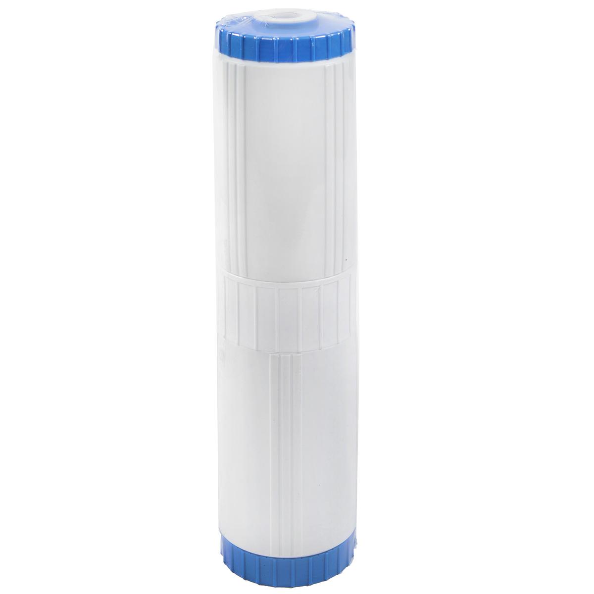 Картридж минеральный Гейзер БА-20BB68/5/2Картридж минеральный Гейзер БА-20BB предназначен для рН-коррекции, удаления из воды растворенных железа, марганца и соединений других тяжелых металлов. Картридж заполнен уникальным природным материалом, обладающим каталитическими и окислительными свойствами. Частично нейтрализует сероводород, хлор, полифосфаты и другие смеси. Изделие имеет прочный пластиковый корпус.Инструкция по замене картриджа прилагается. Размер картриджа: 11 см х 11 см х 50 см.