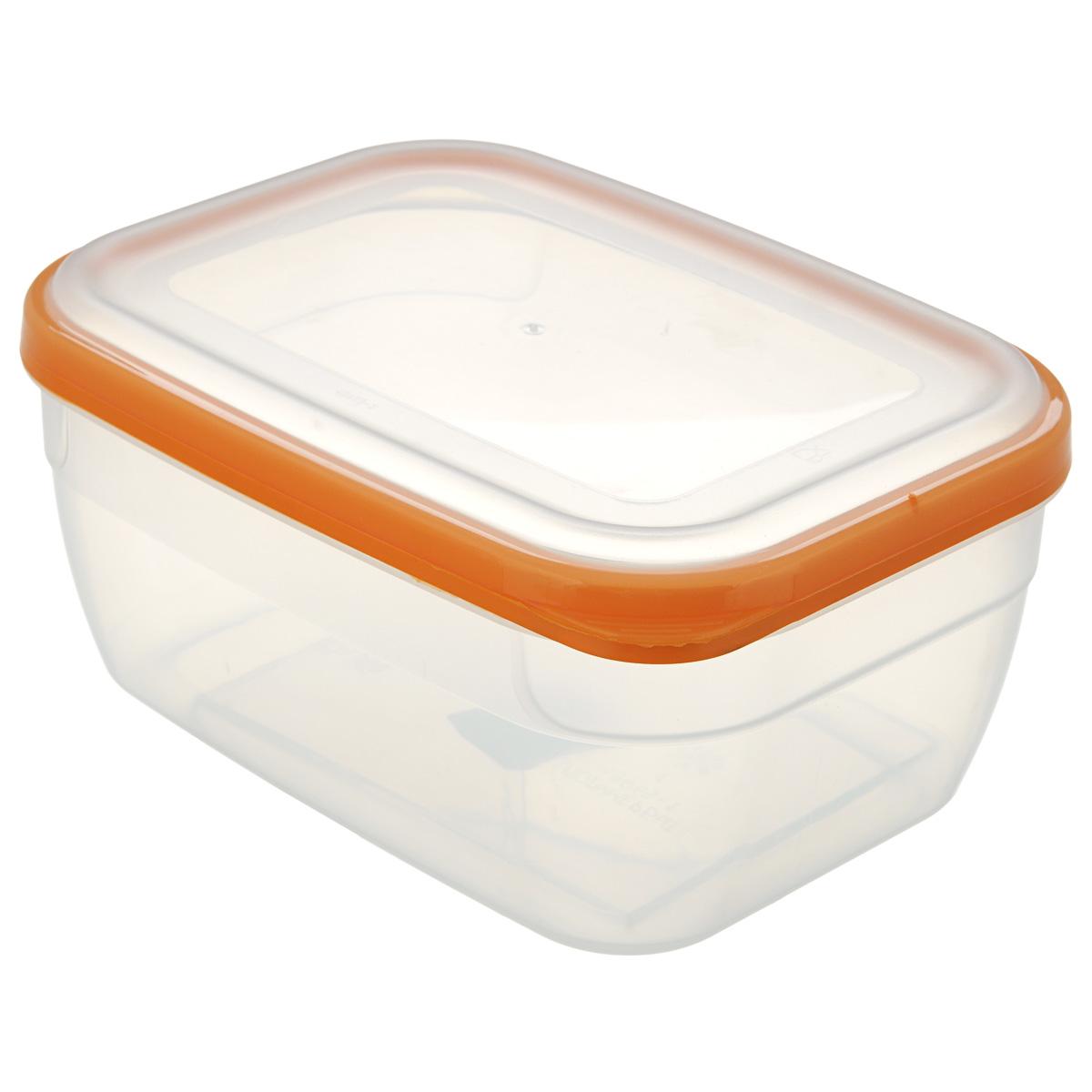 Контейнер для СВЧ Премиум, цвет: оранжевый, 1,8 лС564Пищевой контейнер предназначен специально для хранения пищевых продуктов. Крышка легко открывается и плотно закрывается. Устойчив к воздействию масел и жиров, легко моется. Прозрачные стенки позволяют видеть содержимое. Емкость имеет возможность хранения продуктов глубокой заморозки, обладает высокой прочностью. Контейнер необыкновенно удобен: в нем можно брать еду на работу, за город, ребенку в школу. Именно поэтому подобные контейнеры обретают все большую популярность. Размер: 20 см х 14,5 см х 9 см.