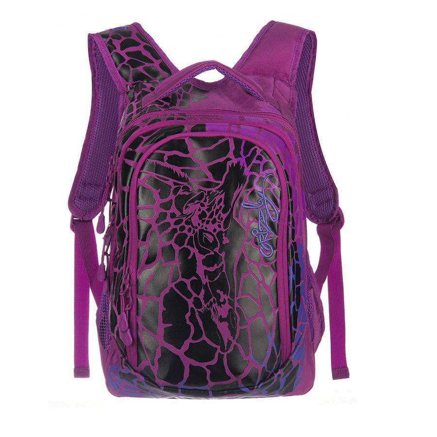 Рюкзак городской Grizzly, цвет: лиловый. RD-534-1BP-001 BKРюкзак молодежный женский с двумя отделениями, внутренними карманами, укрепленными лямками и жесткой спинкой, с ручкой для переноски