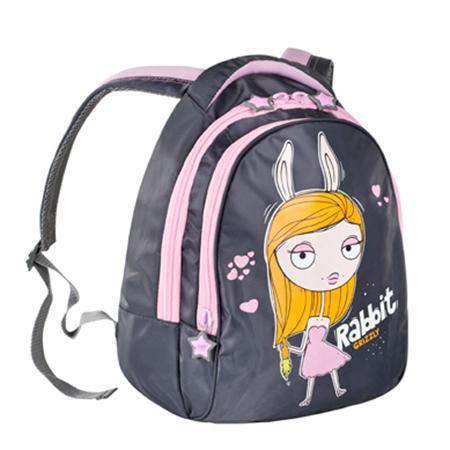 Grizzly RD-215-1 рюкзак 311 серый - 141 розовыйRD 215-1/2Рюкзак с двумя отделениями, пеналом для карандашей, мягкими лямками и ручкой с вставками из неопрена, с жесткой спинкой с фигурной отсрочкой