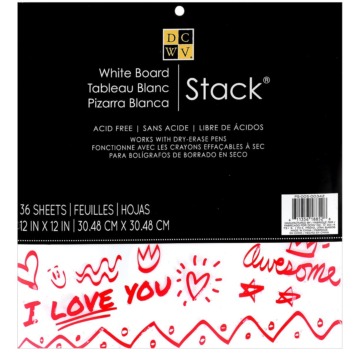 Набор бумаги для скрапбукинга White Board Stack, 36 листов531-105Набор глянцевой бумаги White Board Stack позволит создавать всевозможные аппликации и поделки. Набор включает бумагу следующих цветов: белый, бежевый. Создание поделок из цветной бумаги поможет ребенку развить творческие способности, кроме того, это увлекательный досуг для детей и взрослых.Скрапбукинг - это хобби, которое способно приносить массу приятных эмоций не только человеку, который занимается скрапбукингом, но и его близким, друзьям, родным. Это невероятно увлекательное занятие, которое поможет вам сохранить наиболее памятные и яркие моменты вашей жизни для вас и даже ваших потомков. В набор входит 36 листов белого цвета.Размер листа: 30,4 см х 30,4 см.