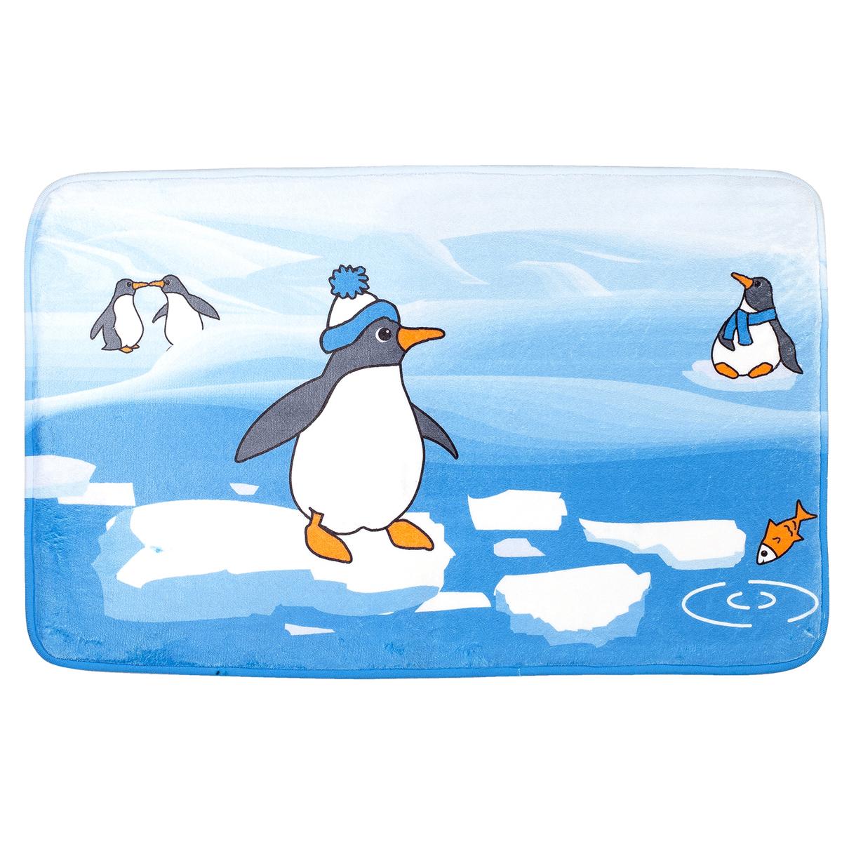 """Коврик для ванной комнаты Tatkraft """"Penguins"""", 50 х 80 см 18624"""