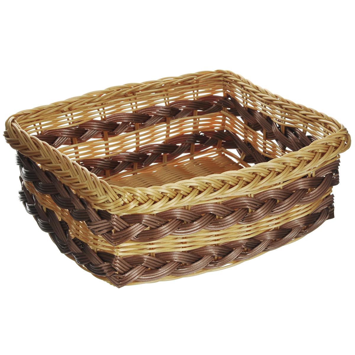 Корзинка для фруктов Kesper, 32 см х 26 см х 12 см. 1781-31781-3Оригинальная плетеная корзинка Kesper прямоугольной формы, выполнена из пластика, напоминающего фактуру дерева. Корзинка прекрасно подойдет для вашей кухни. Она предназначена для красивой сервировки фруктов. Изящный дизайн придется по вкусу и ценителям классики, и тем, кто предпочитает утонченность и изысканность. Можно мыть в посудомоечной машине. Размер корзинки: 32 см х 26 см х 12 см.