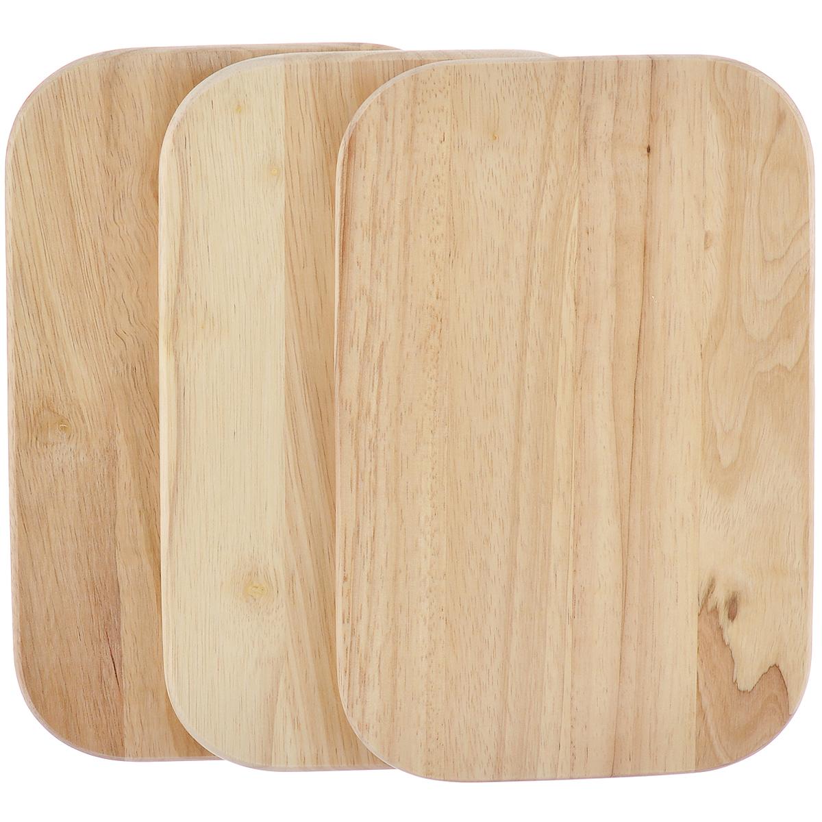 Доска разделочная Kesper, бамбуковая, цвет: светлое дерево, 15 см х 23 см х 1 см, 3 шт6400-3Небольшие разделочные доски Kesper изготовлены из высококачественной древесины бамбука, обладающей антибактериальными свойствами. Бамбук - инновационный материал, идеально подходящий для разделочных досок. Доски из бамбука обладают высокой плотностью структуры древесины, а также устойчивы к механическим воздействиям. Функциональные и простые в использовании, разделочные доски Kesper прекрасно впишутся в интерьер любой кухни и прослужат вам долгие годы. Размер доски: 15 см х 23 см х 1 см.