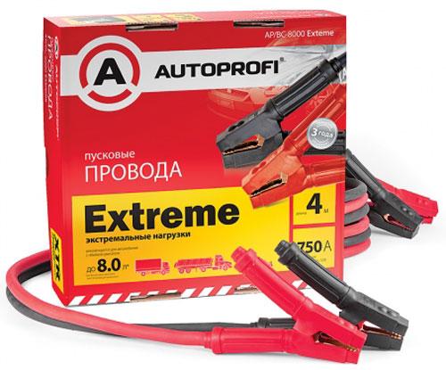 Провода пусковые Autoprofi, экстремальные нагрузки, 50 мм2, 750 A, 4 м провода пусковые autoprofi 4 65 мм 125a sae 2 2 м