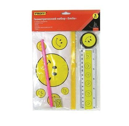 Набор геометрический детский (5 предметов) Proff Smile в индивидуальной упаковке с европодвесом611317Всегда становится необходимым что-нибудь измерить, идеальный выбор. Отличный способ соединить приятное с полезным. Оновременно вы занимаете ребенка и економите свое время, паралельно малыш готовится к будущим школьным занятиям.