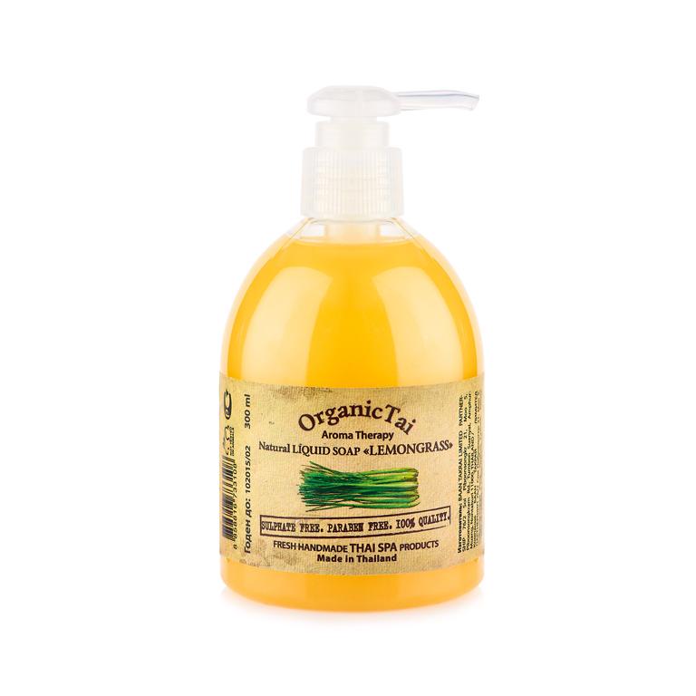 OrganicTai Натуральное жидкое мыло «ЛЕМОНГРАСС» 300 мл8858816 733108Уникальная формула. Не содержит воду, консерванты парабены и синтетические пенящиеся вещества сульфаты (без SLS, SLES и др.). Натуральная моющая основа. Эфирное масло ЛЕМОНГРАССА - это природный антисептик с невероятными антибактериальными и тонизирующими свойствами. Органические масла и экстракты ЛЕМОНГРАССА, ЖОЖОБА, ЗЕЛЕНОГО ЧАЯ, ОГУРЦА, АЛОЭ ВЕРА, растительный глицерин и вит. Е великолепно смягчают и увлажняют кожу, ежедневно заботятся о ее чистоте, нежности и молодости. Свежий аромат натурального ЛЕМОНГРАССА - АФРОДИЗИАК – чувственный и пробуждающий желание.