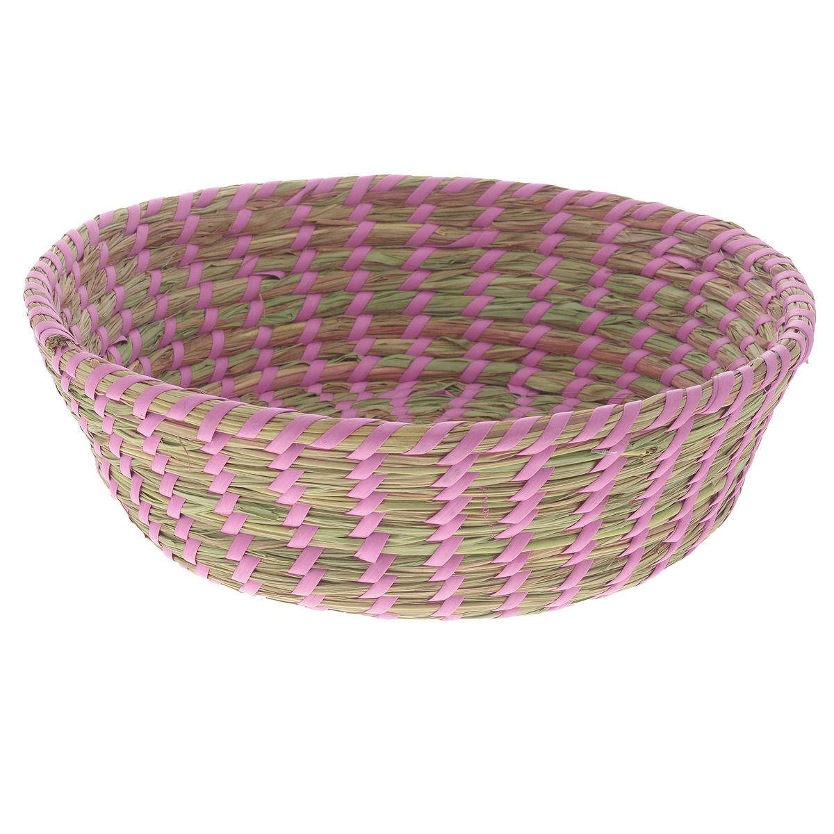 Корзина Zeller, диаметр 33 см18031Круглая корзина Zeller изготовлена из натурального плетеного волокна. Она предназначена для хранения фруктов, хлеба, а также мелочей дома или на даче. Позволяет хранить мелкие вещи, исключая возможность их потери. Корзина очень вместительная. Элегантный выдержанный дизайн позволяет органично вписаться в ваш интерьер и стать его элементом. Материал: натуральное волокно. Диаметр: 33 см. Высота: 10 см.