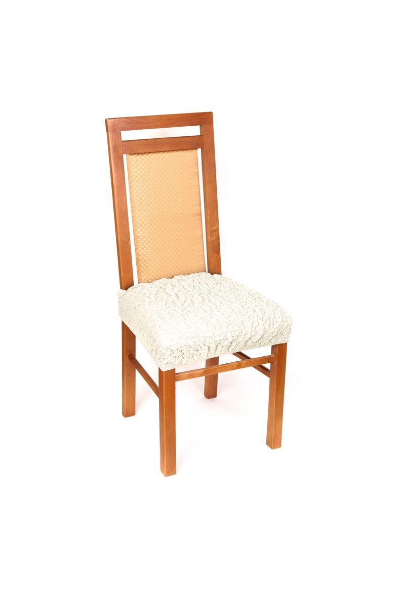 Чехол на сиденье стула Еврочехол Модерн, цвет: шампань, 40-60 см54 009303Чехол на сиденье стула Еврочехол Модерн выполнен из 60% хлопка, 35% полиэстера и 5% эластана. Красивые итальянские чехлы подойдут на любое сиденье стула. Они надежно защитят вашу обивку. Чехол на сиденье стула дает возможность оставить открытыми красивые спинки ваших стульев. Натуральный хлопок в составе мягкой, приятной на ощупь ткани делает ее крепкой и практичной в эксплуатации, позволяя идеально облегать мебель и долго сохранять первоначальную форму. Красивая фактура ткани выгодно смягчит геометрию мебели, а актуальный цвет чехла сделает стул эффектной деталью как классического, так и современного интерьера, привнося в атмосферу помещения свежие легкие ноты. Чехол имеет несколько функциональных элементов: текстильную планку, которая надевается на спинку и фиксирует чехол, и язычок, который легко можно спрятать. Чехол подходит на сиденье стула, а также на табуреты любой формы. Растяжимость чехла: 40-60 см.