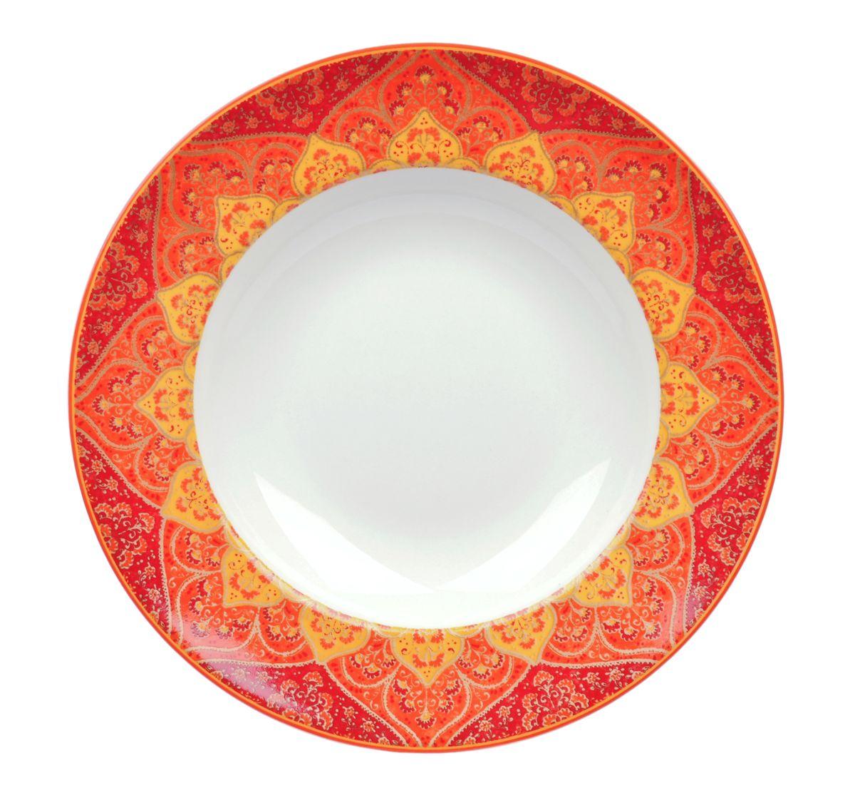 Тарелка глубокая Utana Кашан Рэд, диаметр 24 смUTKR94920Тарелка Utana Кашан Рэд изготовлена из высококачественной керамики. Предназначена для подачи супа или салата. Изделие декорировано оригинальным орнаментом. Такая тарелка украсит сервировку стола и подчеркнет прекрасный вкус хозяйки. Можно мыть в посудомоечной машине и использовать в СВЧ. Диаметр: 24 см. Высота: 4,5 см.