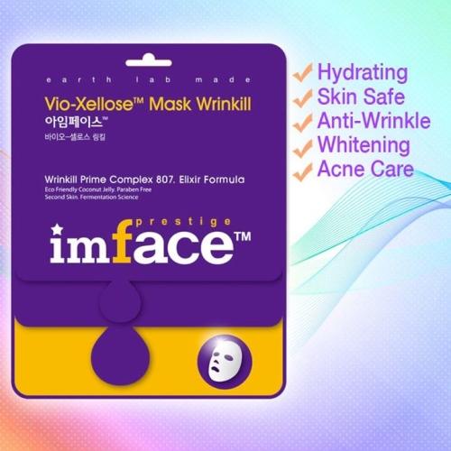 IMFACE маска для лица от морщин Vio-Xellose Mask Wrinkill 23 млБ63003 мятаАнтивозрастной уход, разглаживание морщин, придание упругости и эластичности коже.