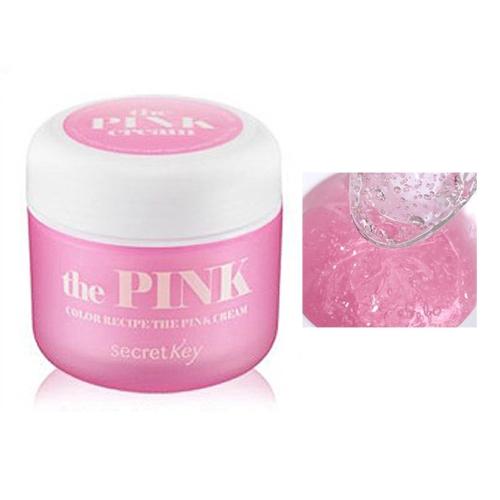 Secret Key Гель для лица от морщин Color Recipe the pink cream 55 гр93442Увлажняющий крем для лица против морщин на основе экстрактов женьшеня, солодки и шелковицы позволяет эффективно бороться с первыми признаками старения.