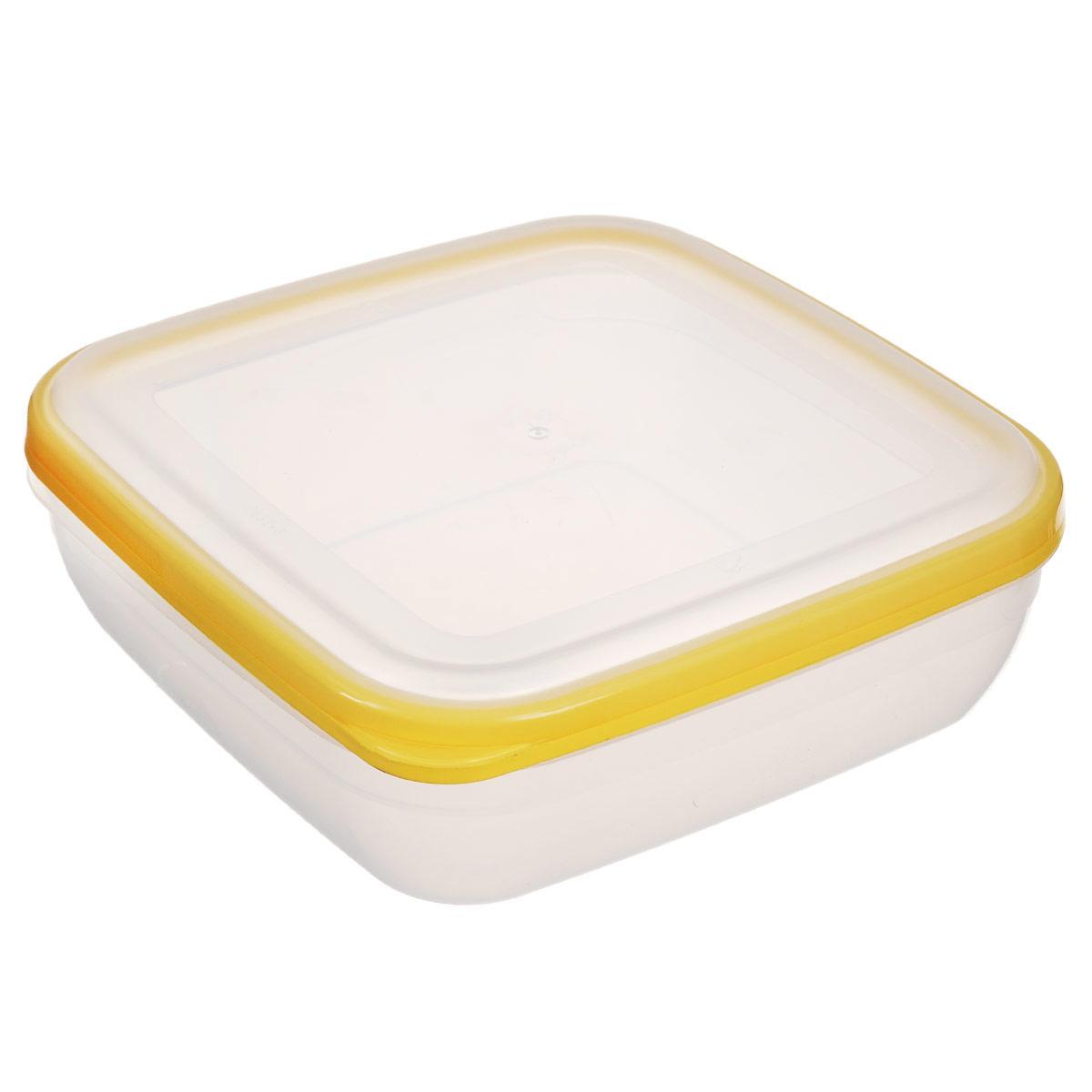 Контейнер для СВЧ Полимербыт Премиум, цвет: желтый, 1,7 лС566Квадратный контейнер для СВЧ Полимербыт Премиум изготовлен из высококачественного прочного пластика, устойчивого к высоким температурам (до +110°С). Крышка плотно и герметично закрывается, дольше сохраняя продукты свежими и вкусными. Контейнер идеально подходит для хранения пищи, его удобно брать с собой на работу, учебу, пикник или просто использовать для хранения продуктов в холодильнике. Подходит для разогрева пищи в микроволновой печи и для заморозки в морозильной камере (при минимальной температуре -40°С). Можно мыть в посудомоечной машине.